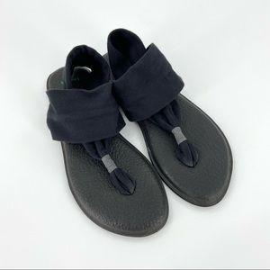 Sanuk Women's Black Yoga Sling 2 Sandals Size 6